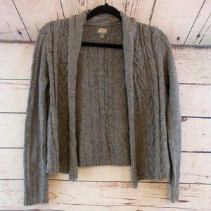 Converse wool blend gray knit cardigan size small